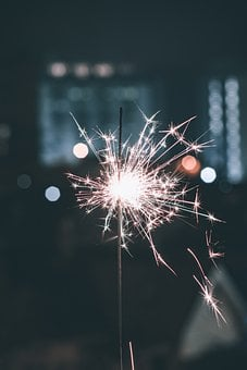 Sparkler, Christmas, New Year, New Year's Eve