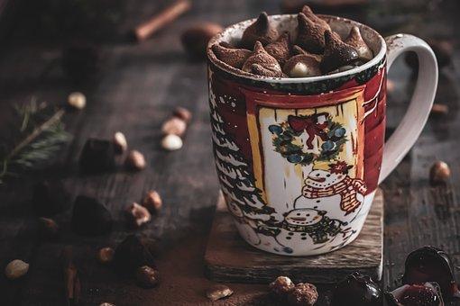 Christmas, Drink, Mug, Hot Chocolate, Chocolate, Cocoa