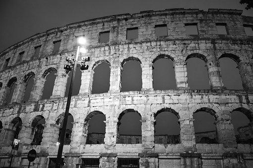 Colosseum, Arena, Croatia, Pula, Gladiator