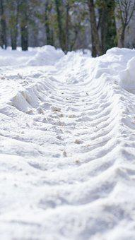 Road, Snow, Tire Tracks, Winter, Cold, Frost, Ice