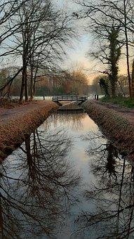 Landscape, Winter, Drenthe, Cold, Sunrise, Nature