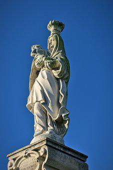Mother Mary, Statue, Madonna, Religion, Sculpture