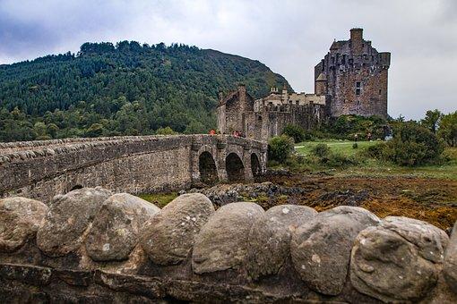 Castle, Eilean Donan, Masonry, Ruins, Bridge, Buildings