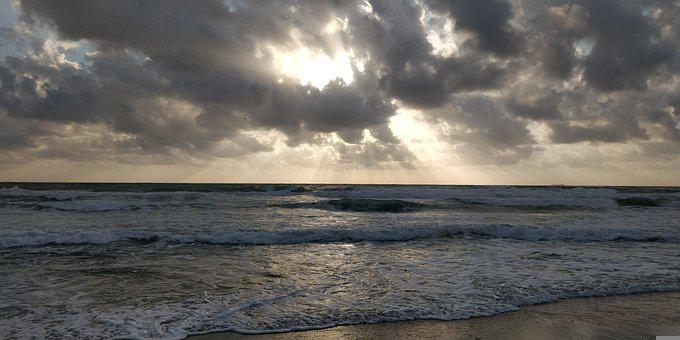 Ocean, Clouds, Sky, Beach, Sea, Nature, Landscape