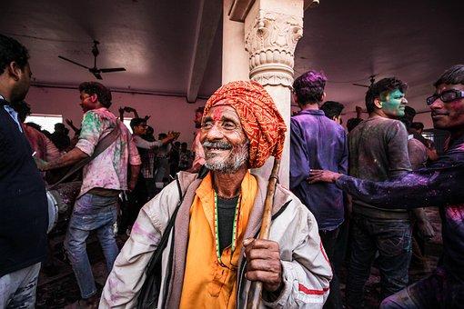 Old Man, Pagri, Indian, Turban, Smile, Happy, Elderly