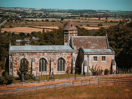 Church, Building, Rural, Architecture, Religion, Fields