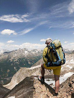 Mountaineer, Hiking, Peak, Summit, Mountains, Hiker