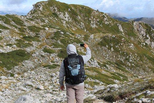 Trekking, Selfie, Mountain, Hiker, Hiking, Person
