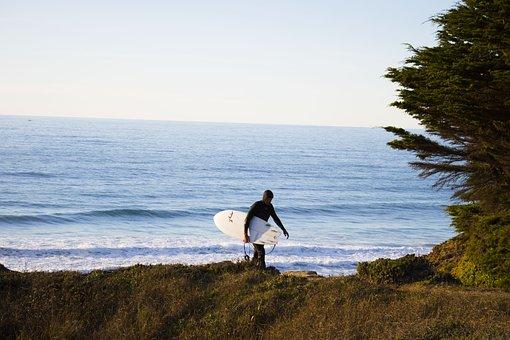 Surfer, Beach, Ocean, Surfing, Waves, Sea, Surfboard