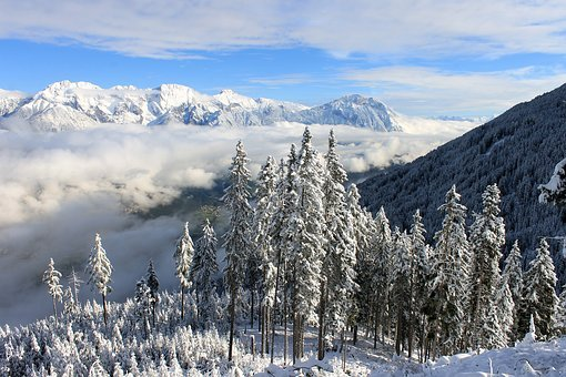 Snowy Landscape, Winter Landscape, Alps, South Tyrol