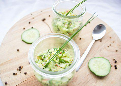 Cucumber, Avocado, Apple, Chives, Vegetables, Vegan