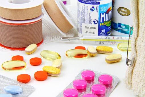 Aid, Bandage, Bottle, Capsule, Emergency, Equipment