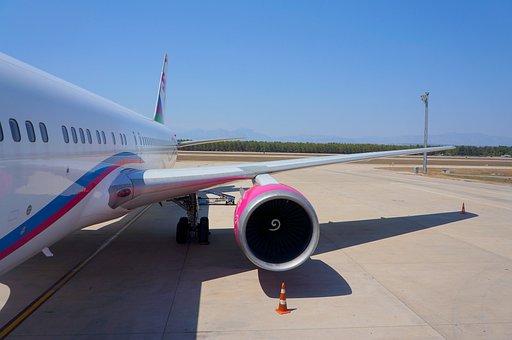 Wing, Turbine, Plane, Boeing, Airport, Air Transport