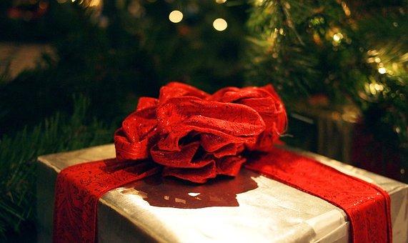 Gift, Xmas, Christmas, Green, Red, Box, Decoration