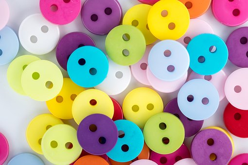 Buttons, Colored Buttons, Colored Scattering, Bright
