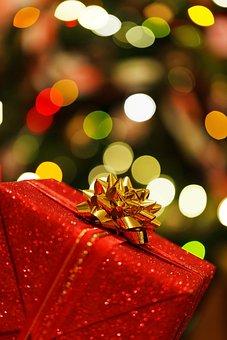 Christmas Present, Box, Celebration, Christmas, Festive