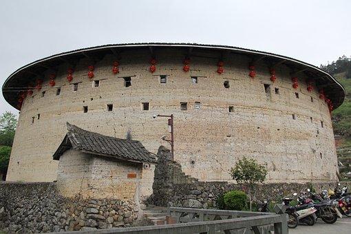 China, Fujian, Earth Building, Building, Circle