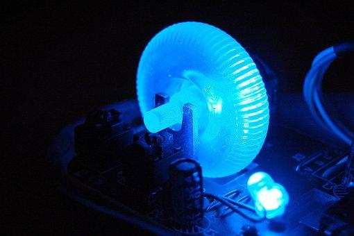 Electronics, Blue, Light, Led, Technology, Computers