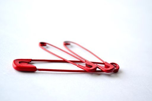 Safety Pins, Pins, Red, Needle, Repair, Craft