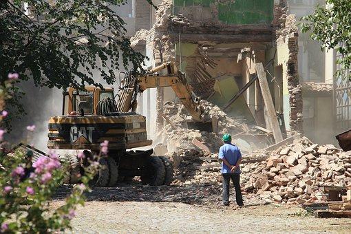 Bulldozer, Demolition, The Destruction Of, Construction