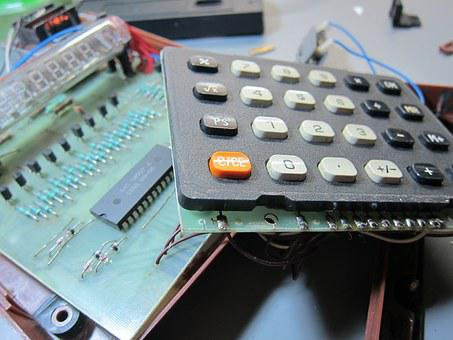 Electronics, Retro Electronics, Calculator, Repair