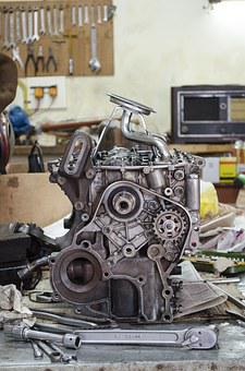 Engine, Automobile, Engines, Disarmed, Workshop, Repair