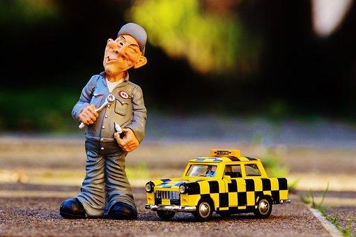 Mechanic, Fig, Funny, Fun, Man, Wrench, Spark Plug
