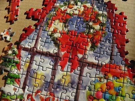 Jigsaw, Christmas, Leisure, Hobby, Hobbies