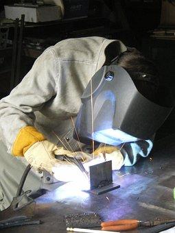 Welding, Blue-collar, Trades, Industry, Metal, Worker