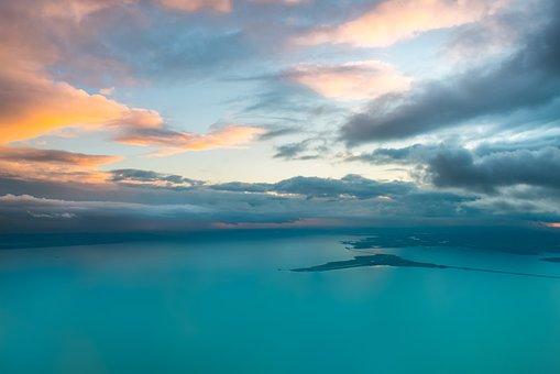 Aerial, Netherlands, Island, Lake, Ijsselmeer, Marken