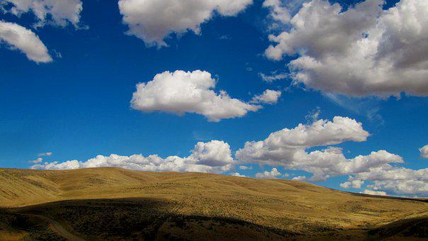 Clouds, High Desert, Landscape, Eastern Washington, Sky