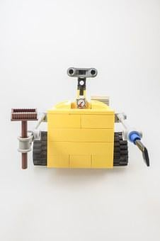Lego, Wall-e, Figure, Cult, Computer, Robot, Machine