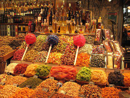 La Boqueria, Barcelona, Market, La Rambla, Lollipop
