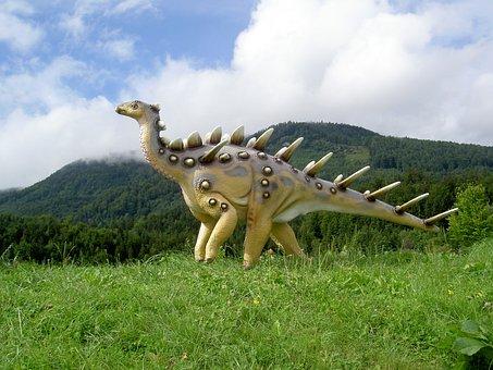 Dinosaur, Meadow, Moving Jigsaw
