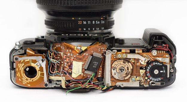 Camera, Inside, Mechanics, Technician, Electro
