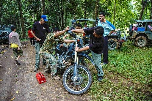 Motorcycle, Mechanic, More, Help, Enduro Tour, Repair