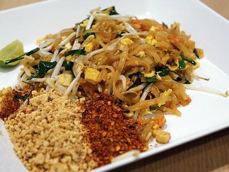 Noodles, Stir Fired, Pad Thai, Seafood, Peanut