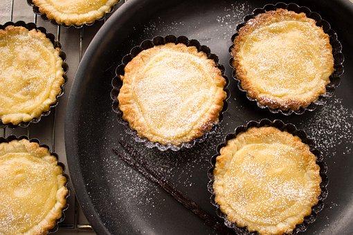 Pudding, Tart, Vanilla, Pastries, Dessert, Sweet, Sugar