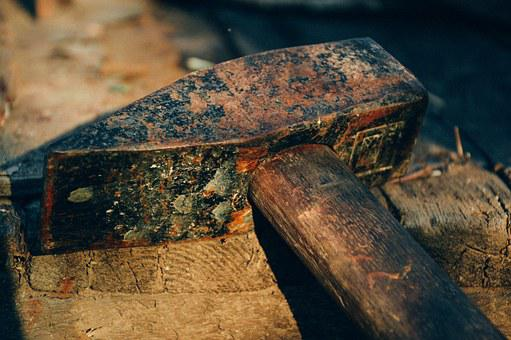Hammer, Old Tool, Work, Tool, Equipment, Repair, Rusty