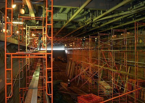 San Diego, California, Ship, Repairs, Workers, Hull