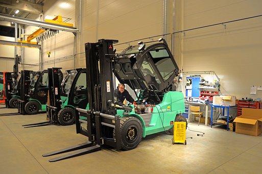 Forklift, Service, Sales, Hall, Repair, Work