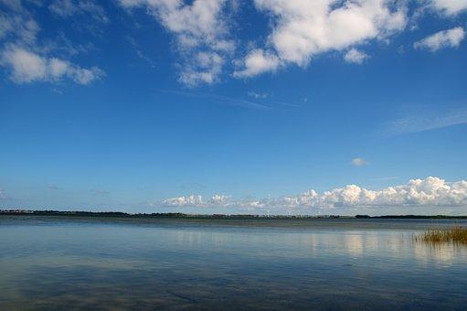 Ostsse, Bodden, Water, Sky, Landscape, Sea, Summer