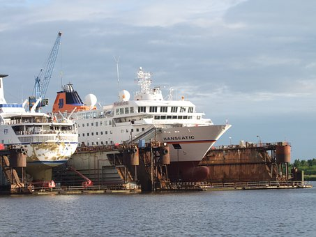 Dry Dock, Ships, Water, Repair, Broken, Bremerhaven