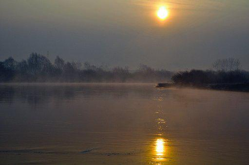 Spring, River, Landscape, Nature, Tree, Morning, Water