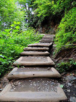 Path, Stairway, Trail, Staircase, Step, Pathway