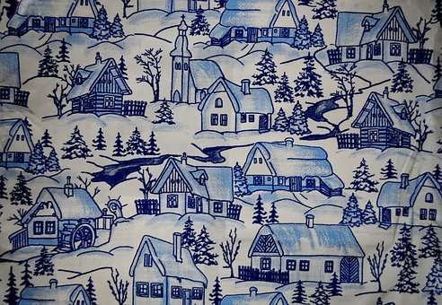 Christmas, Theme, Wallpaper, Background, Houses, Snow