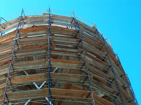 Water Tower, Under, Construction, Water, Tower, Sky