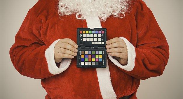Santa Claus, Eye Shadow, Christmas, Xmas, Costume, Wish