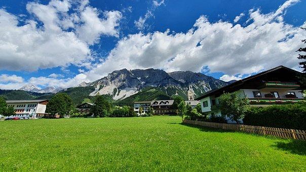 Alpine, Mountains, Dachstein