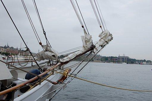 Stallion, Sweden, Summer, Boat, Mar, Europe